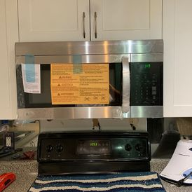 newly installed kitchen appliance