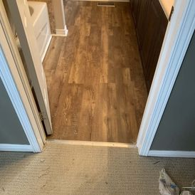 View of a bathroom wooden flooring